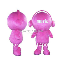 mascot Pink Music Doll Mascot Costume Adult Size Music Spirit Doll Cartoon Character Mascotte Outfit Suit