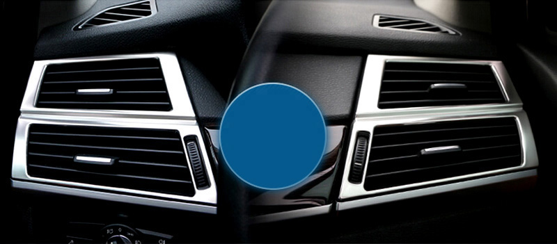 For BMW X5 E70 2008 2013 Stainless Steel Interior Side Air Conditioner Vent Outlet Cover Trim