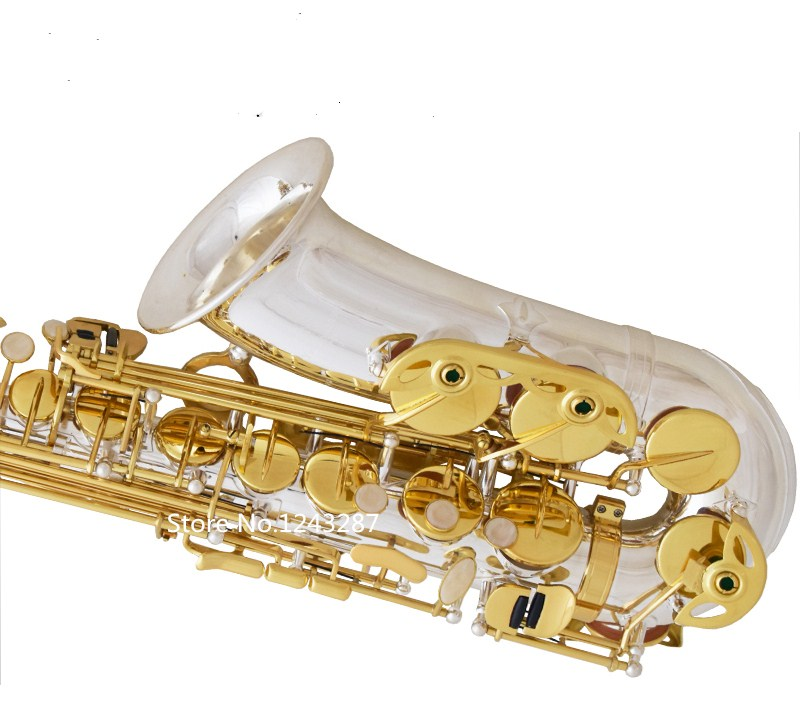 France Henry SELMER 54 Alto Saxophone Professional Instrument Music E flat Musical instruments Free shipping alto saxophone selmer 54 brass silver gold key e flat musical instruments saxophone with cleaning brush cloth gloves cork strap