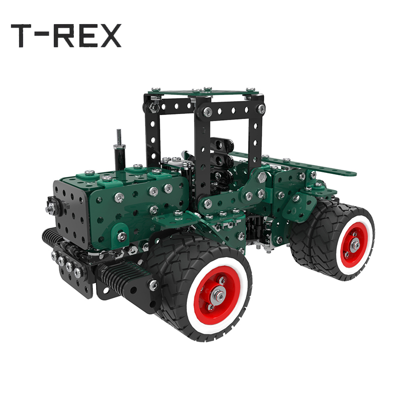 2018 Toy Car DIY Model Building Blocks Engineering Metal Stainless Steel Vehicle Blocks Brick 3D Educational Transportation 196pcs building blocks urban engineering team excavator modeling design
