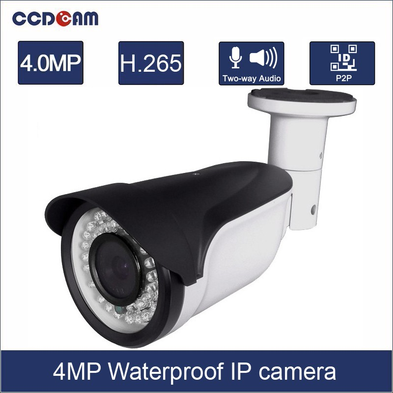 где купить CCDCAM 2016 New arrival 4MP camera original bullet cameras cctv IP network cameras H265 IPC дешево