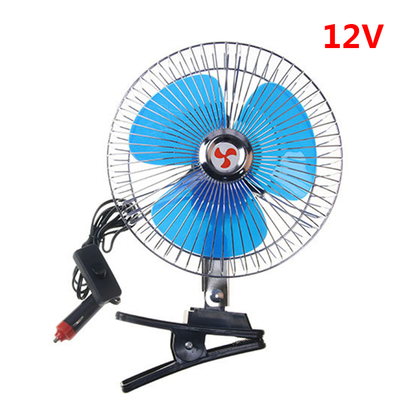 8 Car DC12V Semi enclosed Rotatable Cooling Electric Fan With Clip Portable