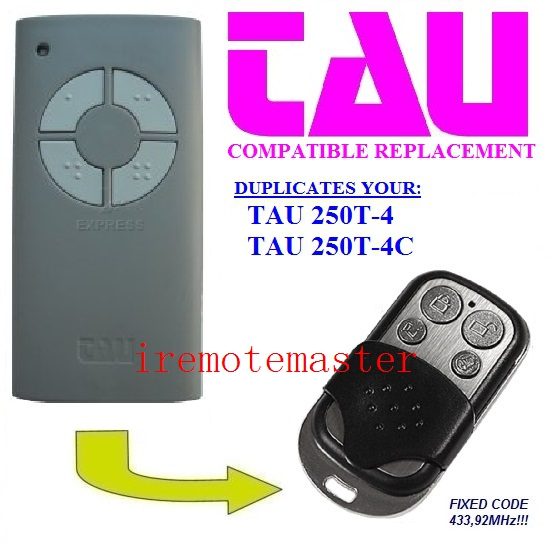 TAU 250T-4 TAU 250T-4C garage door replacement remote control transmitter