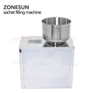 Image 2 - ZONESUN תה מילוי מכונה 1 100g תה במשקל מכונה רפואת תבואה זרעי פירות מלח עצבים מכונת אריזת אבקה מילוי
