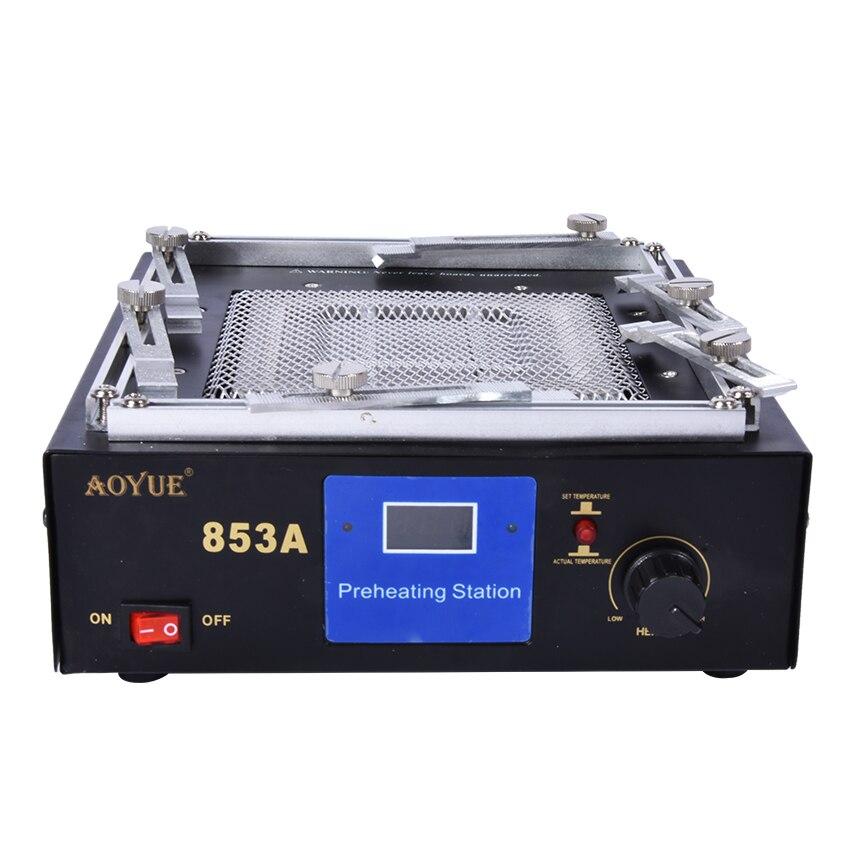 853A 110/220 в Инфракрасный цифровой Подогрев стол паяльная станция ИК Подогрев нагревательный диск площадь 130*130 мм
