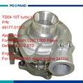 Турбокомпрессор с водяным охлаждением 49177-01512 MD194841 для Mitsubishi 2.5L 4D56 4D56T дизельный двигатель 2477cc