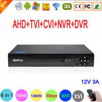 Hi3521A Xmeye 1080N 16 Channel 16CH H.264 Surveillance Wifi Hybrid XVI TVi CVI NVR AHD DVR only Free shipping to Spain Portugal