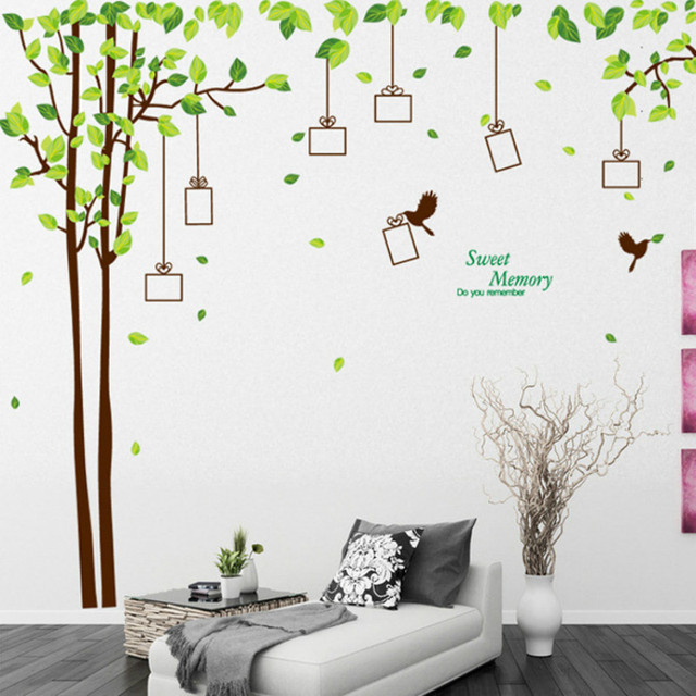 Large Family Tree Picture Photo Frame Wall Decal Living Room Bedroom