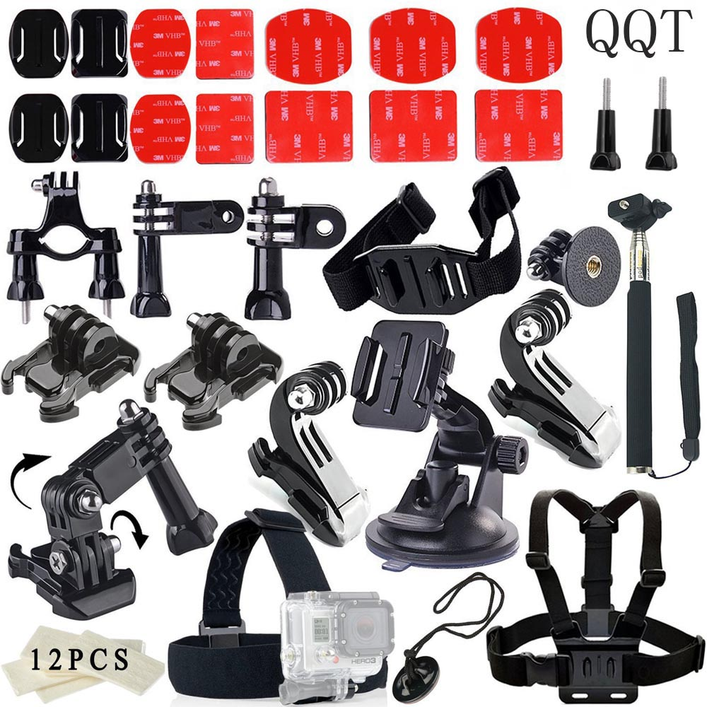QQT for Gopro Hero 6 5 Accessories Set for go pro kit for hero 4 3 for SJ4000 for SJCAM for xiaomi for yi 4 K Sports camera