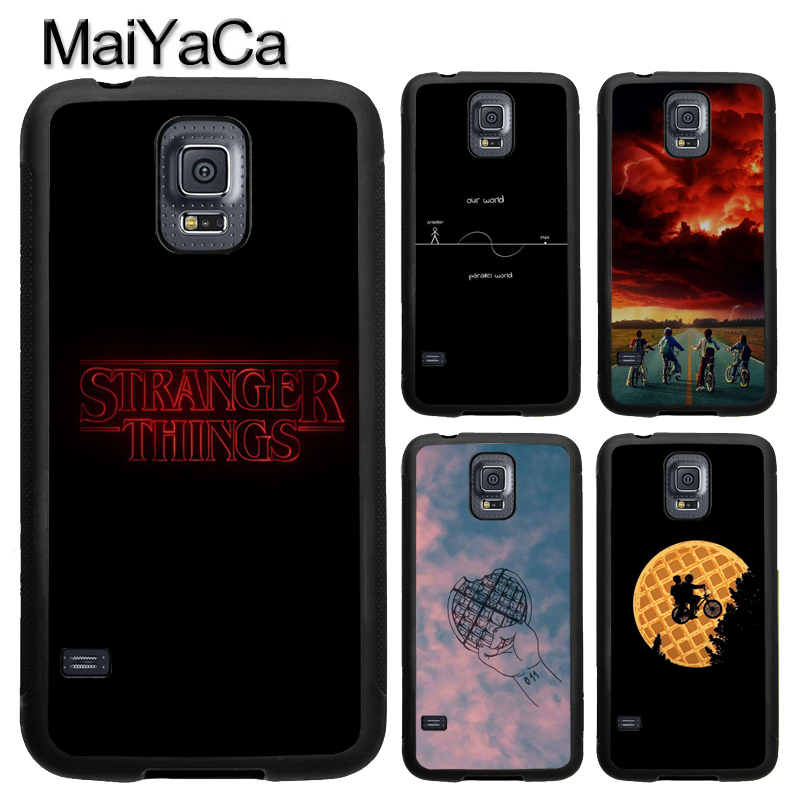 MaiYaCa TV Series Stranger Things Eleven Phone Case Fundas For Samsung S7 S5 S6 edge S8 S9 plus Note 8 Note 4 Note 5 Back Cover