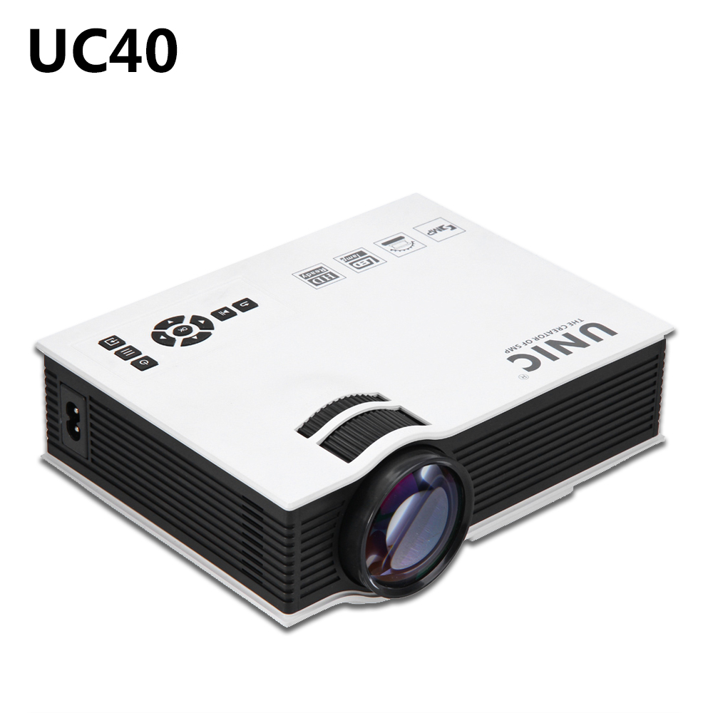 UC40 Portable Mini LED Projector Home Cinema Theater USB SD AV HDMI 3 5mm Audio out
