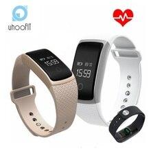 Bluetooth Smart Браслет монитор сердечного ритма кровяное давление монитор кислорода IP67 водонепроницаемый uhoofit A09 браслеты