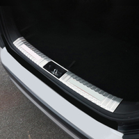 Car Styling 1PCS Stainless Steel Inner or Outer Rear Bumper Protector Guard Plate Trim For Hyundai Kona 2017 2018 2019