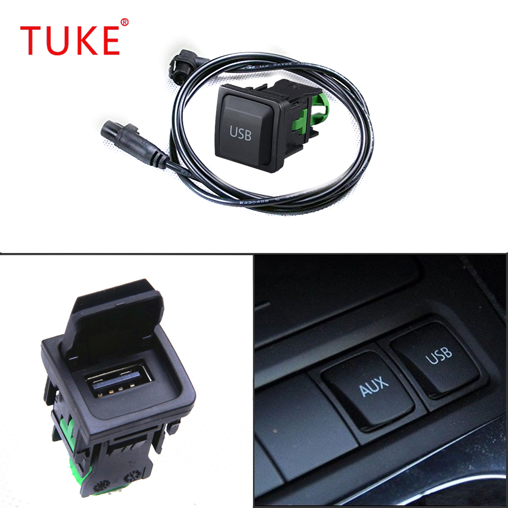 Tuke Oem Vw Rcd510 Rns315 Commutateur Usb Interface Socket Wiring Jetta Harness Pour Mk5 Mk6 Golf Scirocco 5kd035726a In Cables