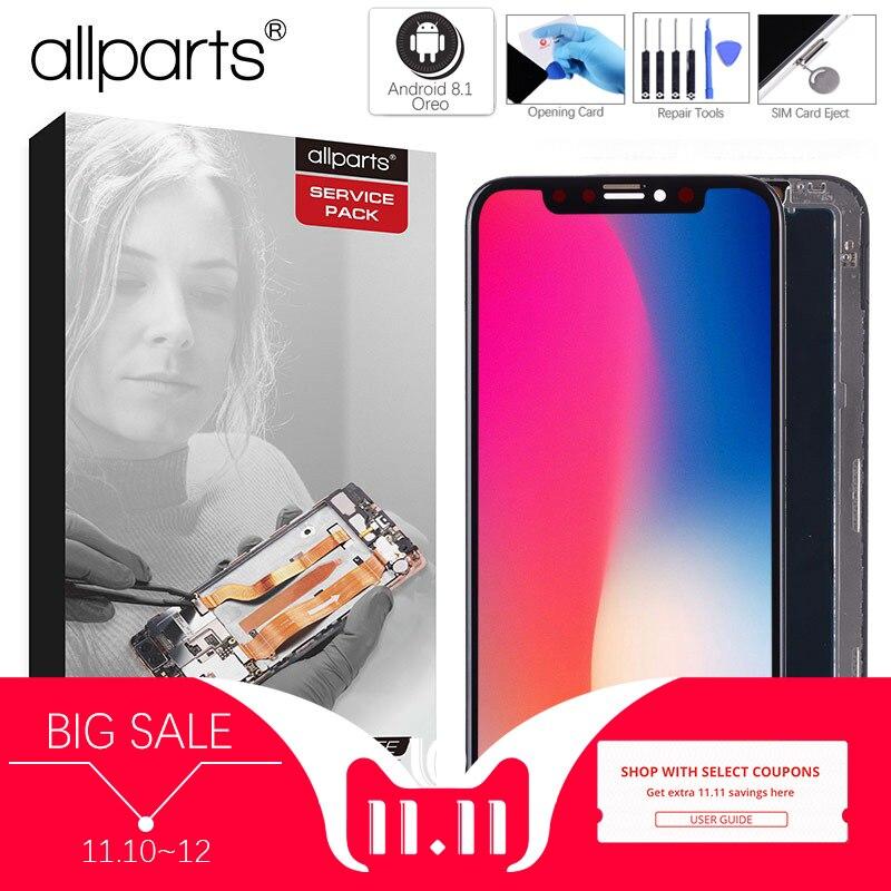 Montaggio con Telaio di Ricambio 5.8 pollice AMOLED Display LCD Modulo Touch Screen Per il iphone X