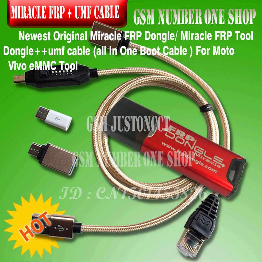 2020 neueste Ursprüngliche Miracle FRP Dongle/Wunder FRP Werkzeug Dongle + umf alle In Einem Boot Kabel FÜR Moto vivo eMMC Tool .....