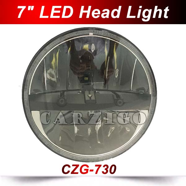 CZG 7 Round LED OffRoad Light LED Headlight LED Hi/Lo Beam Driving Light LED head Lamp for Harley for Jeep Wrangler 4x4 UTV SAV 7inch round black left hand led headlight hi low beam 80w high bright driving lamp for jeep harley