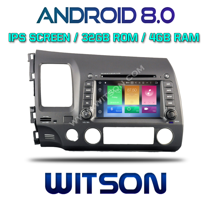 WITSON Android 8.0 Octa- core (Eight-core) 4G RAM CAR DVD PLAYER GPS For HONDA CIVIC 2006-2011 car gps dvd car radio audio