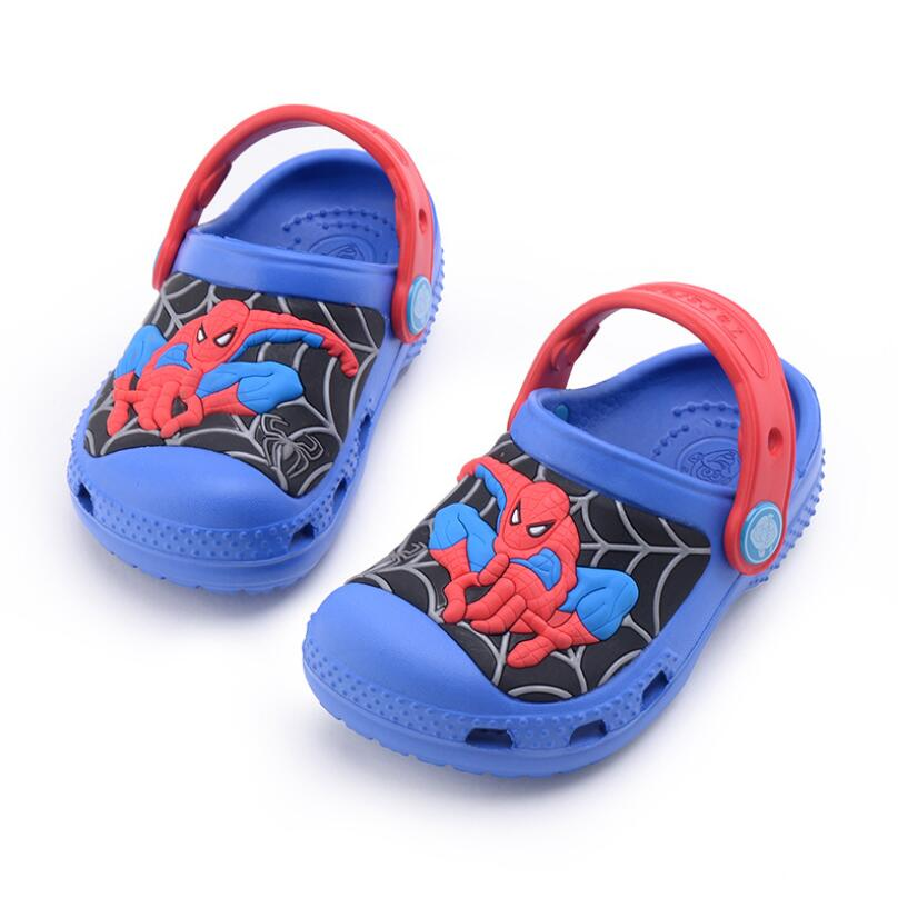 Cartoon Spider-Man Batman Boys Summer Casual Beach Sandals Light Weight Kids Clogs And Mules Children Garden Slippers
