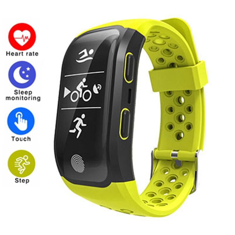 S908 Bluetooth GPS Tracker Bracelet IP68 étanche Bracelet intelligent moniteur de fréquence cardiaque Fitness Tracker SmartBand pour Androis IOS
