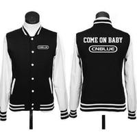 Kpop thuis Harajuku kom op baby cnblue honkbal uniform katoen hoodie jas