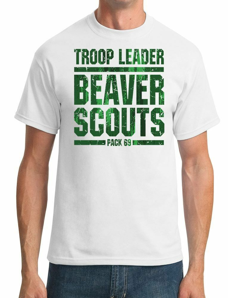 Troop Leader Beaver Scout 69 funny t shirts boyfriend gift 100%Cotton Short tshirts