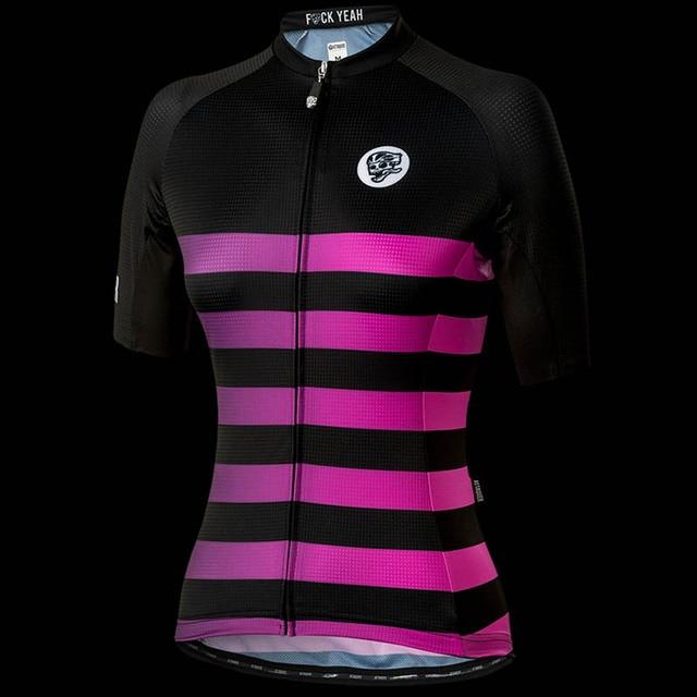 e47cdf239 ATTAQUER Womens All Day Faded Stripe Jersey Magenta Sweatshirt Summer Men s Short  Sleeve Jersey Team cycling