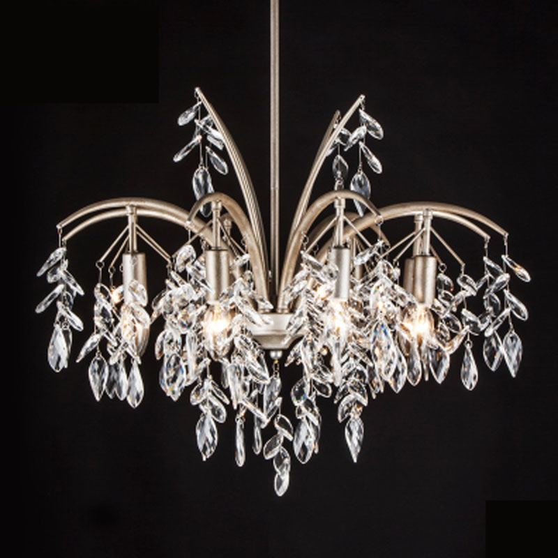 Simple European Crystal Pendant Lamp Luxury E14 LED Large Hall Lamp Retro Creative Living Room Bedroom Candle Chandelier luxurious crystal pendant lamp the european style living room lamps and lanterns creative bedroom crystal chandelier