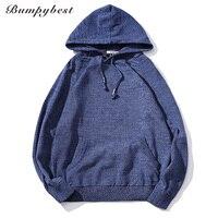 Bumpybeast Sweater Pullover Men 2017 Male Brand Casual Slim Sweaters Men Soild Color Hedging Hooded Men