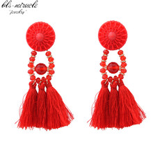 Фотография bls-miracle fashion jewelry accessorie Bohemia colorful beads with tassels  Dangle earring best  femme gift  wholesale E455