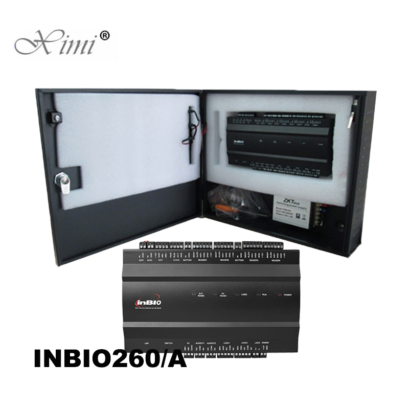ZK inbio260 2 Doors TCP IP Biometric Fingerprint And RFID Card Access Control Panel System Control