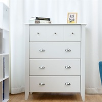 Modern Multi functional 4 Drawers Chest Dresser Storage Cabinet Livingroom Furniture White Wall Cabinets HW58547