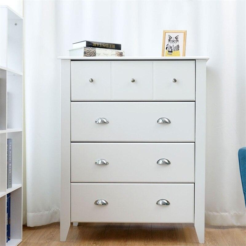 Moderne multi-fonctionnel 4 tiroirs commode armoire de rangement salon meubles blanc armoires murales HW58547