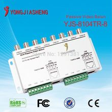 Free shipping Passive Transmitter BNC Female UTP Rj45 Cat5 Cables 8 Channel Video Balun