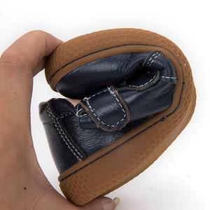Image 4 - Фирменная кожаная обувь для детей, девочек, мальчиков, босинки, повседневные кроссовки для малышей, размер 25 35 #