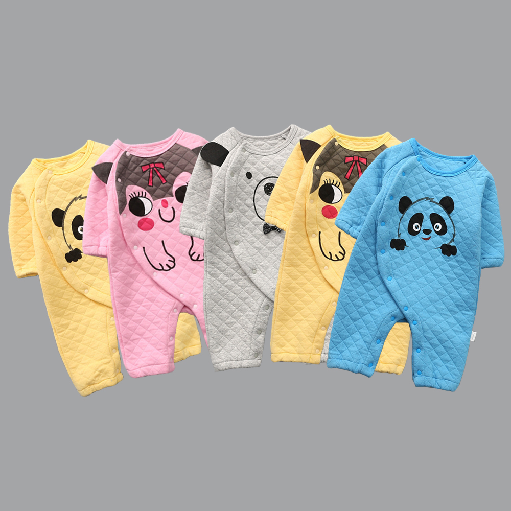 Newborn Baby Rompers Cute Cotton Jumpsuits Cartoon Long-sleeve Infant Costumes Baby Boy Girl Clothes Thicker To Against The Cold mother nest 3sets lot wholesale autumn toddle girl long sleeve baby clothing one piece boys baby pajamas infant clothes rompers