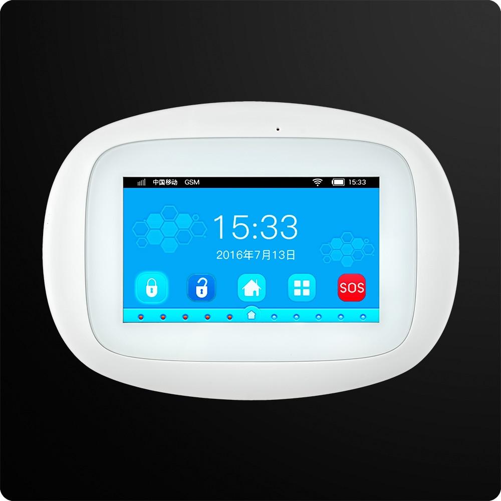 KERUI K52 4.3 Inch TFT Color Screen Wireless Security Alarm WIFI GSM English Alarm System APP Control 1