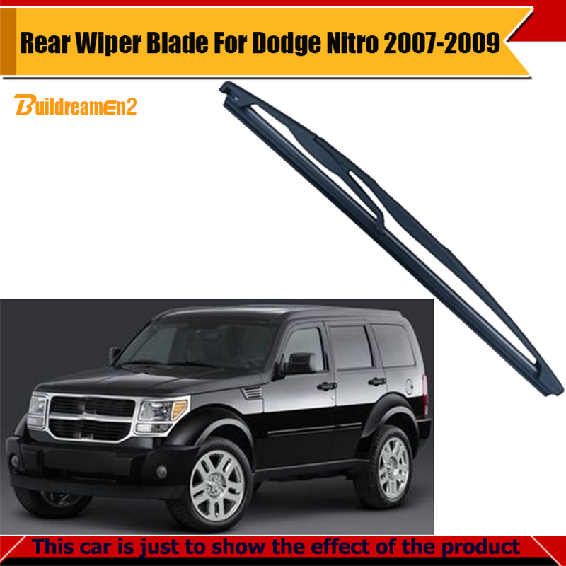 Buildreamen2 Car Tail Window Soft Rubber Wiper Blade Windshield For Dodge Nitro 2007-2009