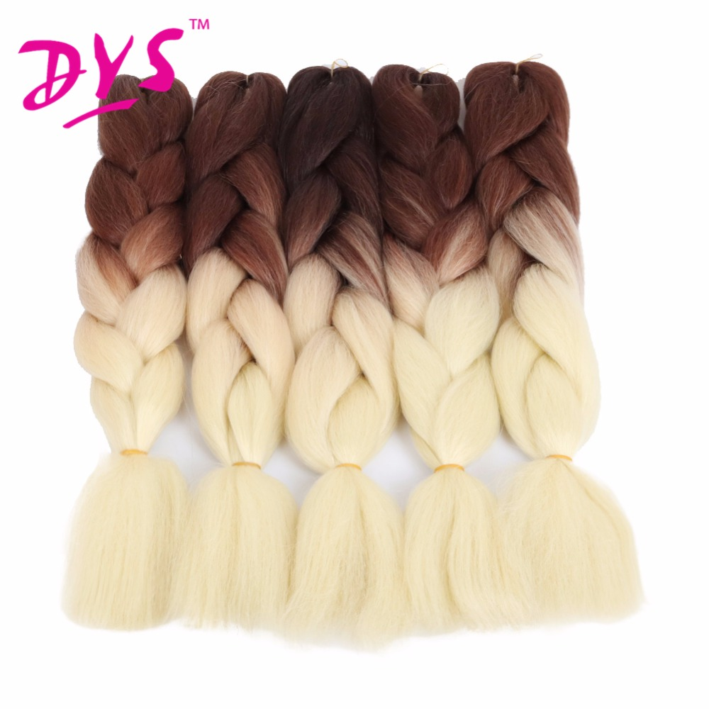 Deyngs 24Inch Ombre Kanekalon Braiding Hårförlängningar Tvåton - Syntetiskt hår - Foto 5