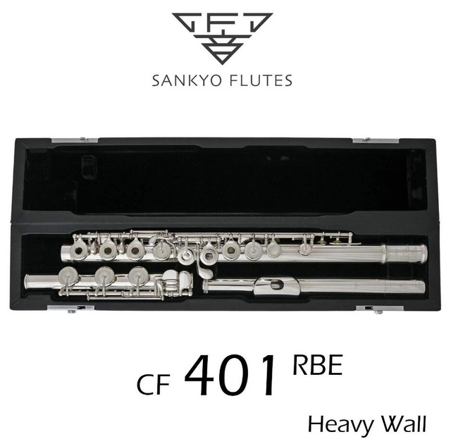 Professional Sankyo CF 401 FLUTE ETUDE E Key Split Silver Plated FLute C tone 17 Holes