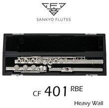 Профессиональный Sankyo CF-401 флейта Этюд E ключ Разделение Посеребренная флейта C тон 17 Отверстия открыты смещение G копия