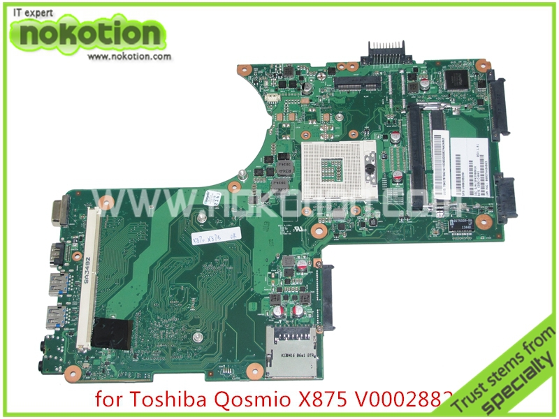 V000288280 Brand board Laptop motherboard for toshiba Qosmio X870 X875 6050A2493501-MB-A02 HM76 HD4000 DDR3 with graphics slot