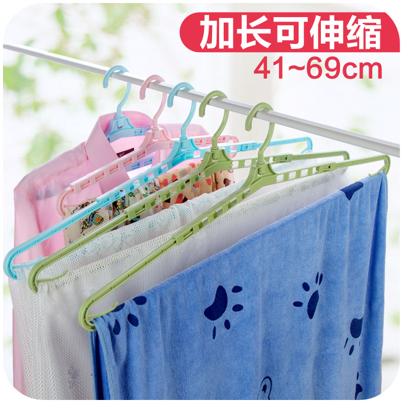 Extended Retractable Towel Sheets Drying Rack, No Trace Of Plastic Hangers  Wet And Dry Racks