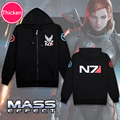 RPG Game Mass Effect 3 N7 Coat men boys clothes cosplay costume mens jackets and coats black outwear hoodies sweatshirts
