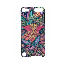 Funny Trippy Elephant 2016!Colorful Fashion UV Black Bag Case For ipod Touch 5 6