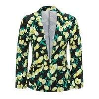 Kinikiss 2018 Spring Women Floral Blazer JacketsSlim Fit Notched 3D Prin Open Front Blazer Outfits Sweat