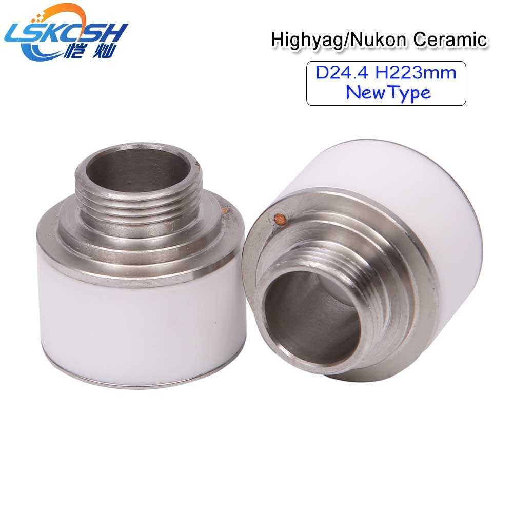 LSKCSH 10pcs/lot Highyag/Nukon Laser Ceramic Nozzle Holder Diameter 24.4mm Height 22.3mm For Fiber Laser Cutting Head Wholesale lskcsh 10pcs lot wsx precitec fiber laser ceramic ring nozzle holder wtc 02 mini cutting head high quality wholesale agents