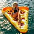 180*150 CM Boias de Pizza Flamingo Inflável Sofá Inflável Ar Layag Boia Piscina Float Flutuante Para Piscina Cama de Ar