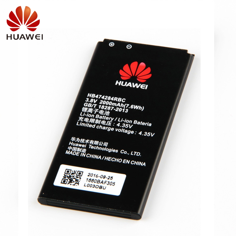HUAWEI HB474284RBC Genuine Battery For Huawei Honor 3c lite Y635 G521 G620 Y5 C8816 Y550 Y560 Y625 2000mAh Phone Battery in Mobile Phone Batteries from Cellphones Telecommunications