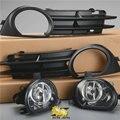 1 Conjunto Da Frente Luz de Nevoeiro + Nevoeiro Grade Lâmpada de Halogéneo grades Panzel Grille Para AUDI A3 8 P 06-08 8P0941700A 8P0941699 um